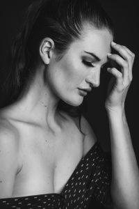 model pose woman profile Calgary international