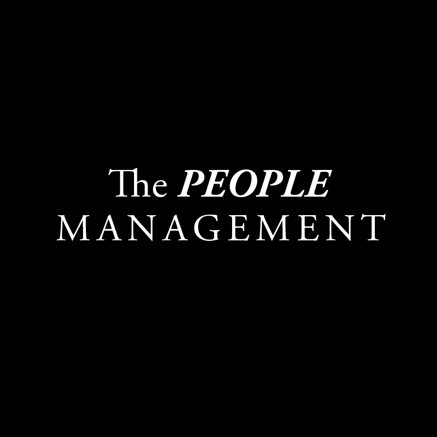 The People Management Model Logo Black and White